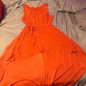 Dresses & Skirts - An orange, high- low dress